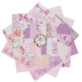 """Набор бумаги для скрапбукинга """"#Мыженимся"""", 30,5 х 30,5 см, 12 листов, 180 г/м"""
