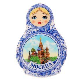"""Магнит в форме матрешки """"Москва"""""""
