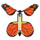 """Прикол """"Бабочка"""", вылетает из книги, цвет оранжевый"""