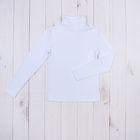 Водолазка для мальчика, рост 140-146 см (36), цвет белый 957-ДКМ-04