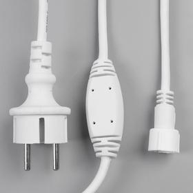 """Комплект для подкл. гирлянд """"Бахрома"""" до 6000 LED, Н.Б. """"Каучук"""" 2W, фикс"""