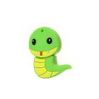 """Подарочная USB-флешка 4 Gb Mirex SNAKE GREEN, """"змейка"""""""