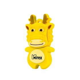 """Подарочная USB-флешка 8 Gb Mirex DRAGON YELLOW, """"желтый дракон"""""""