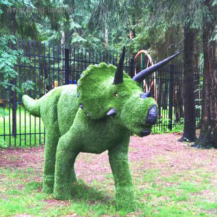 "Топиар фигура ""Динозавр трицератопс"""