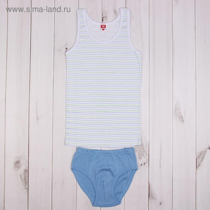 Комплект для мальчика (майка, трусы), рост 134 см (68), цвет Синий CAJ 3338