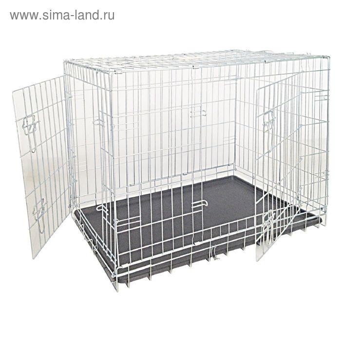 Клетка для собак складная,  2 входа,  93*62*69, цинк