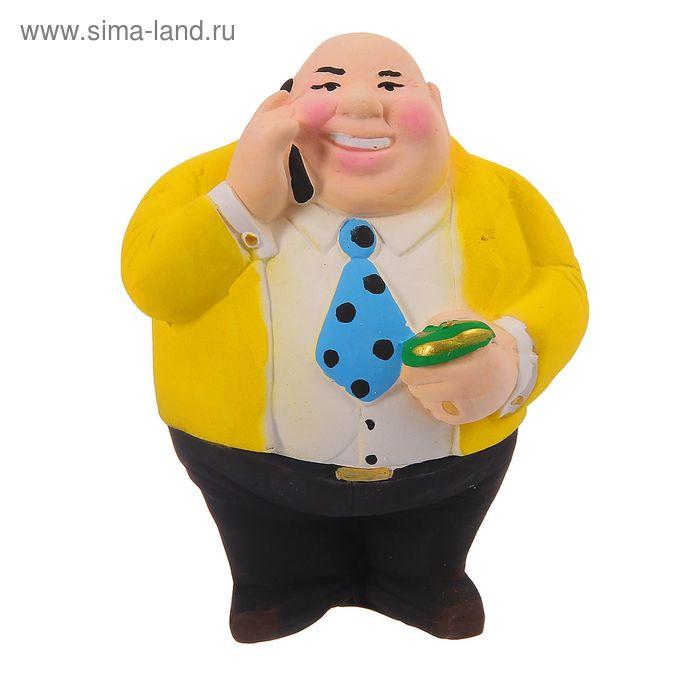 """Копилка """"Новый русский"""" малая, жёлтая"""