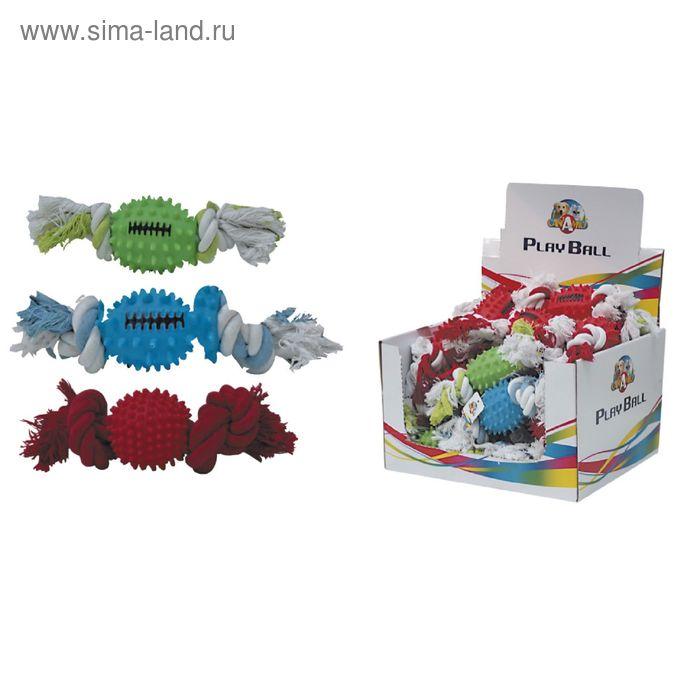 Игрушка для собак Канат с игольчатым мячом, 7 см