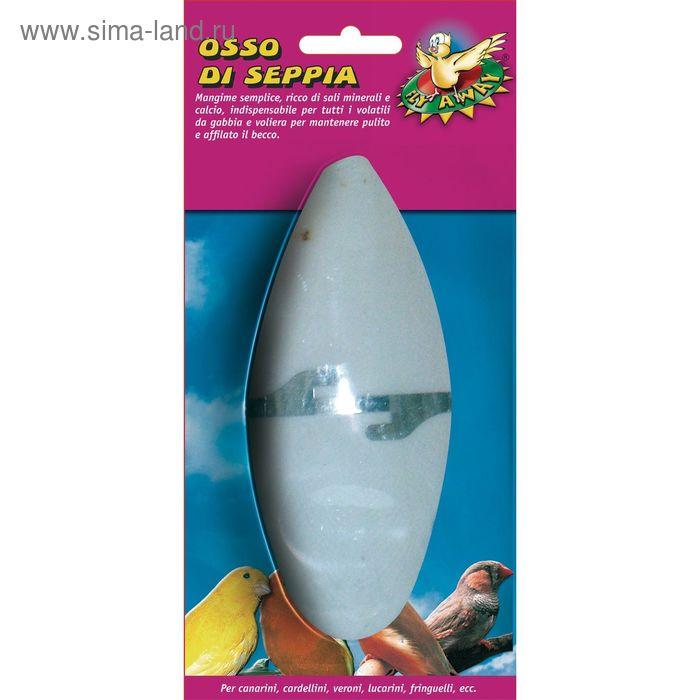 Панцирь  каракатицы с держателем  для птиц, 12 см ,блист.