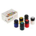 Краска по стеклу и керамике набор 6 цветов х 20 мл ЗХК Decola 4041026