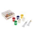 Краска по стеклу и керамике набор 5 цветов х 20 мл ЗХК Decola в комплекте : контур 2 цвета х 18 мл, разбавитель 4041176