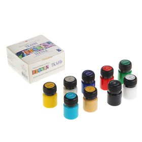 Краска для ткани акриловая набор 9 цветов х 20 мл ЗХК Decola 4141111