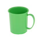 Кружка «Радуга» 180 мл, детская, пластиковая, цвет зелёный