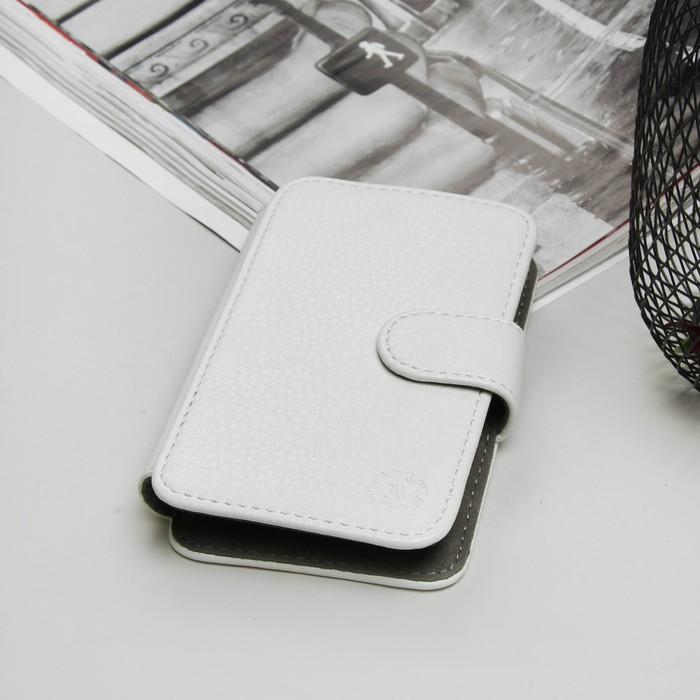 """Чехол-книжка """"Norton"""" для телефона, универсальный 3""""-3,5"""" с выдвижным механизмом, цвет белый"""