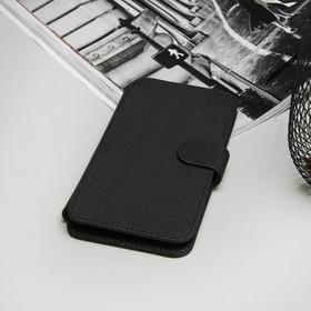 """Чехол-книжка """"Norton"""" для телефона универсальный, 5,2""""-5,5"""", с выдвижным механизмом, цвет чёрный"""