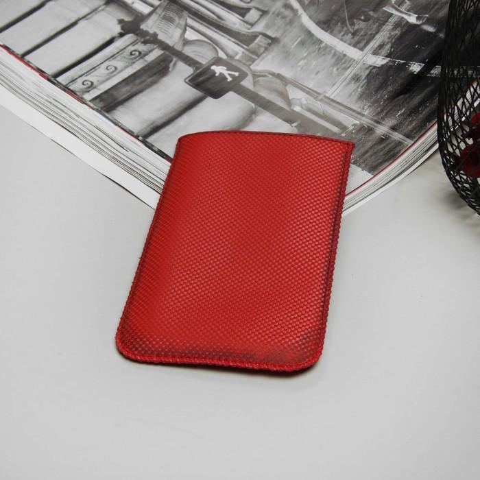 """Чехол с ремешком """"Norton"""" для телефона, размер Z, цвет красный карбон"""