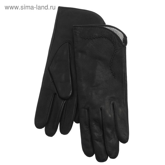 Перчатки женские, модель №27у , материал - козлина, без подклада, р-р 20, чёрные