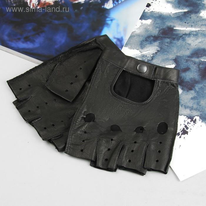 Перчатки автомобилиста, материал - козлина, без подклада, р-р 24, цвет чёрный