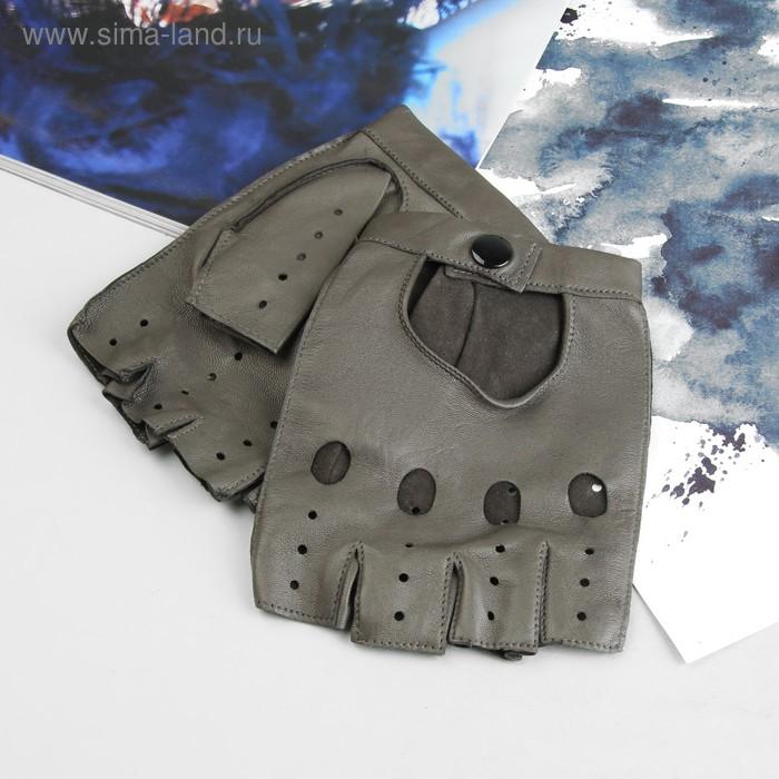 Перчатки мужские, модель №394р, материал - овчина, без подклада, р-р 23, серый
