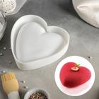 """Форма для выпечки и муссовых десертов """"Сердце"""", цвет белый"""