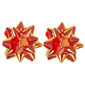 Бант-звезда №10 перламутровый, медный