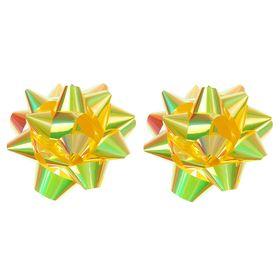 Бант-звезда №10 перламутровый, золотой