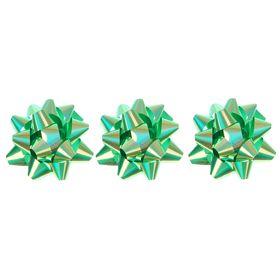 Бант-звезда №6,5 перламутровый, зеленый