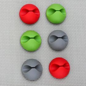 Набор держателей проводов 6 шт, цвет МИКС Ош