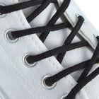 Шнурки для обуви круглые, d=4мм, 75см, цвет чёрный