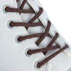 Шнурки для обуви круглые, d=4мм, 75см, цвет коричневый