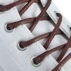 Шнурки для обуви круглые, с пропиткой, d=5мм, 75см, цвет коричневый