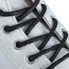 Шнурки для обуви круглые, с пропиткой, d=5мм, 90см, цвет чёрный