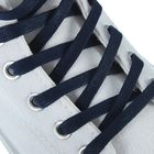 Шнурки для обуви плоские, d=5мм, 90см, цвет тёмно-синие