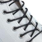 Шнурки для обуви круглые, с пропиткой, d=2,5мм, 100см, цвет чёрный