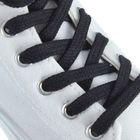 Шнурки для обуви плоские, d=7мм, 120см, цвет чёрный