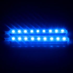 Комплект подсветки салона TORSO, 9 LED-5050, 14 см, 2 шт., свет синий