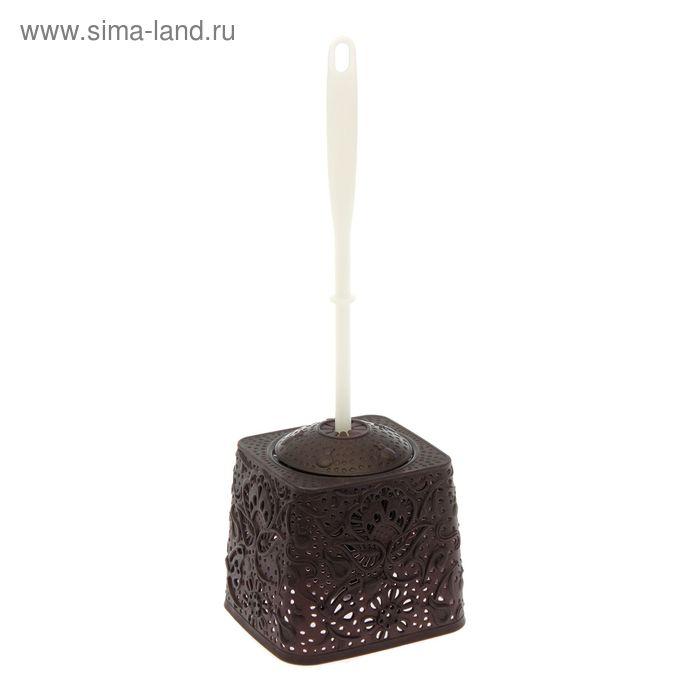 Ёршик для унитаза, цвет коричневый