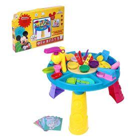 Игровой набор для лепки, Микки и его друзья, 34 предмета, 5 цветов пластилина, высота 29 см