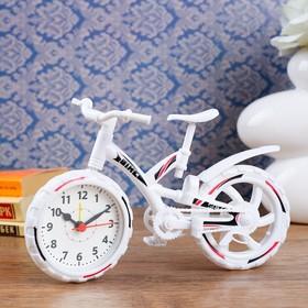 Будильник. Серия Транспорт. Велосипед с широкими шинами, 15*25см микс