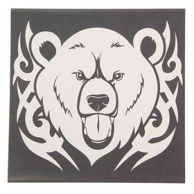 "Наклейка на авто ""Медведь"" 20х20 см"