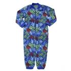 Комбинезон для девочки, рост 116 см, цвет голубой, принт кляксы 621782-8