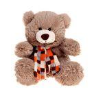 Мягкая игрушка «Медведь Мишутка» в шарфе, цвет коричневый