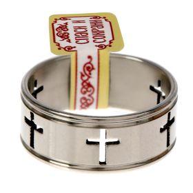 Кольцо 'Кресты', размер 17 Ош