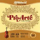 Комплект струн для виолончели  D'Addario J59-4/4M Pro-Arte размером 4/4, среднее натяжение