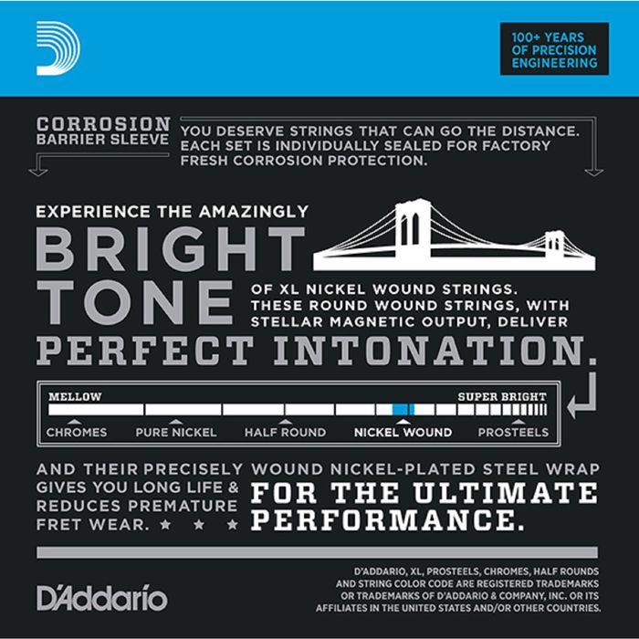 Струны для электрогитары D'Addariо EXL125-10P Nickel Wound  S Light Top/Regular Bottom 9-46, 10 комп