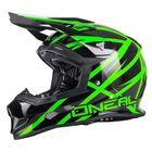 Шлем кроссовый 2Series Helmet Thunderstruck, чёрно-зелёный, XL