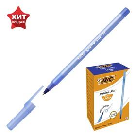 Ручка шариковая BIC Round Stic, узел 1.0мм, чернила синие, штрихкод на каждой ручке