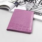 Обложка для автодокументов+паспорт ВП126к-65, 10*1*13,5, кайман сиреневый