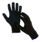 Перчатки х/б, вязка 7 класс, 6 нитей, с ПВХ точками, набор 5 пар, «Экстра +»