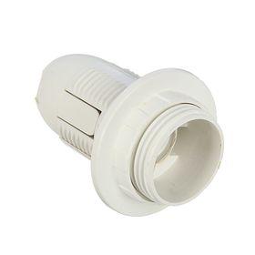 Патрон электрический, Е14, пластиковый с прижимным кольцом